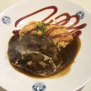 new とろとろオムバーグ(サラダスープ)(洋食屋キッチンKAZU (kitchen KAZU 一))