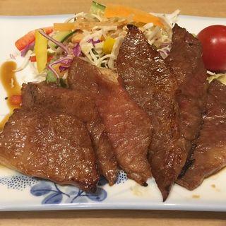 和風牛ステーキ(手打麺処 まるいち )