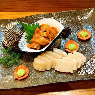 赤貝とタイラギ貝のお造り(とみ助 )