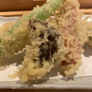 野菜天盛り(讃岐うどん 茶ぶ釜)
