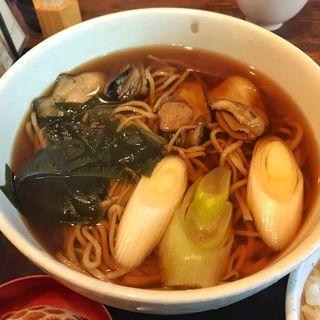 牡蠣蕎麦(石挽 手打ち いわもと (そば処 石挽))
