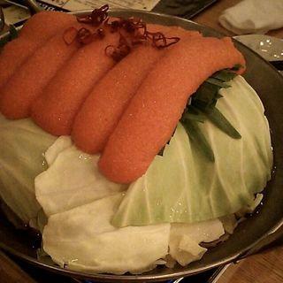 明太もつ鍋(もつ道 上野の森さくらテラス店)