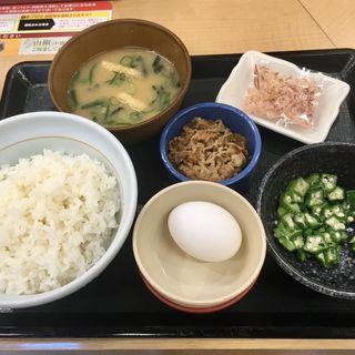 朝まぜ牛小鉢定食(なか卯 すすきの西店 )