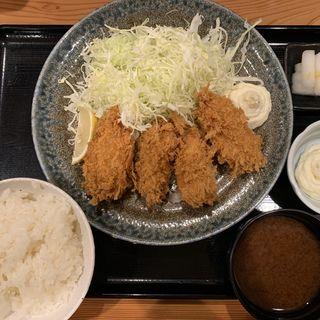カキフライ定食(とんかつ まるや 竹橋店)