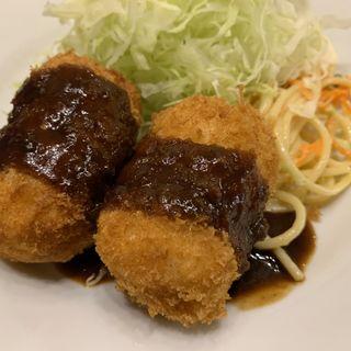 帆立貝のクリームコロッケ2貫(洋食アカシア)