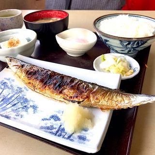 さんま焼定食(ドライブインサザエ )
