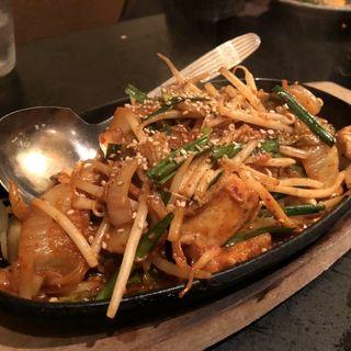 ホルモン野菜鉄板焼き(稀鳥屋)