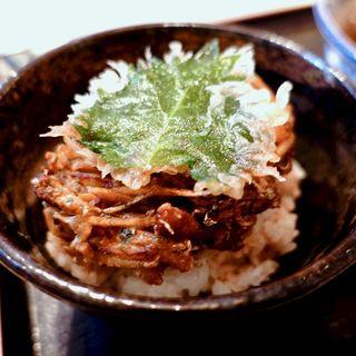ミニかき揚げ丼(釜ひろ )