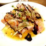 鯛とサーモンカルパッチョ