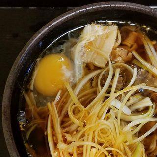 辛ねぎ肉そば(ゆで太郎 六番町店 (ゆでたろう))