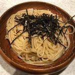 タラコとイカのスパゲッティ