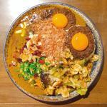 並・甘辛MIX(辛口多め)・キーマ W・豚・中華アチャール・チーズ・かつお節・ドライフルーツ