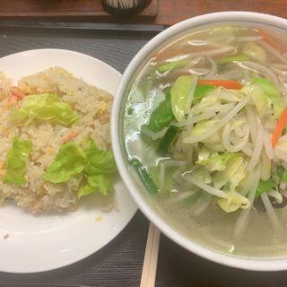 タンメン+レタスチャーハン(つばめ )