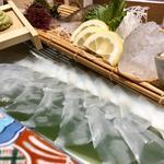 イカの活き造り(さかな市場 中州店)