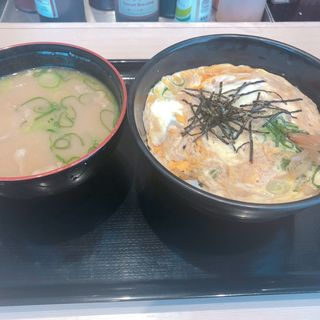 卵丼 豚汁(松のや 姫島店)