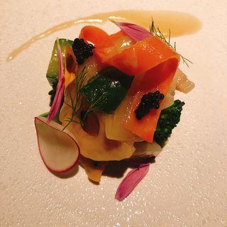 北海道産 ホタテとツブ貝のサラダ仕立て アンチョビキャベツ(LA TERRE (ラ・テール))