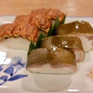 鯖・鰻寿司盛り合わせ(いづう )