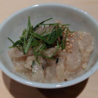 カワハギ肝和え(鮨はしもと)