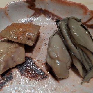 あん肝と牡蠣の味噌漬け(鮨はしもと)