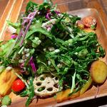 オーガニックケールと彩り野菜のサラダ