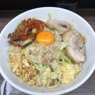 小ブタ汁なし(ラーメン二郎 横浜関内店)