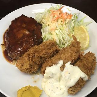 カキフライ&ハンバーグ(レストラン ベア 本店)