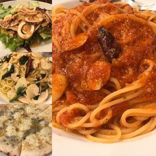 トマトとニンニクのスパゲティ(カプリチョーザ 新宿ワシントンホテル店 )