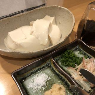 おぼろ豆腐(酒とおいしい飯 エナジーホール)