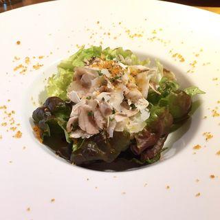 温玉とマッシュルームのサラダ(ortensia)