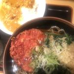 紅生姜天蕎麦と半カレーセット