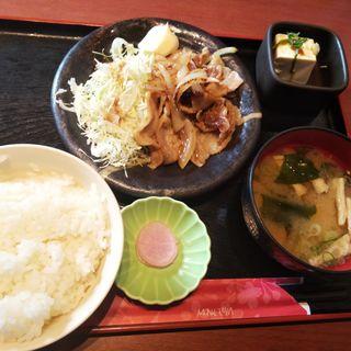 生姜焼き定食(千年の宴 南流山駅前店 )