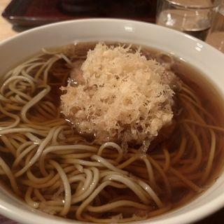 天ぷらそば(並木薮蕎麦)