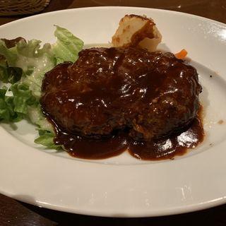 ハンバーグステーキ(デミグラスソース)(レストラン大宮 新丸ビル店 (RESTAURANT Omiya))