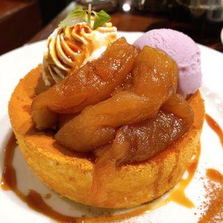 キャラメルりんごのパンケーキ(星乃珈琲店 座間店)