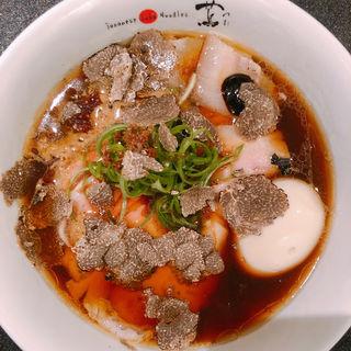 黒トリュフチャーシュー味玉醤油Soba