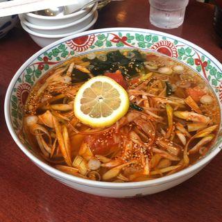 焼豚と葱の辛味麺(ふーみん )