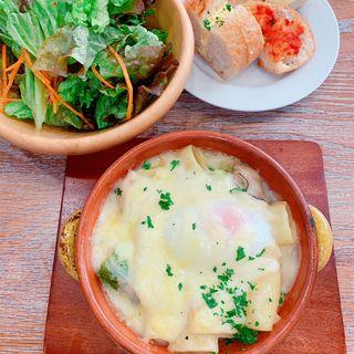 とろーり玉子の牡蠣グラタン(ソライロキッチン)