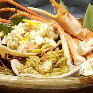 富山タグ付き茹で蟹(別邸 きときと )