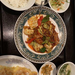 回鍋肉セット餃子5個(新橋玲玲餃子 (シンバシレイレイギョウザ))