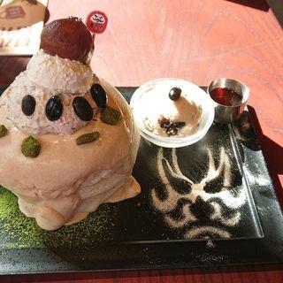 渋皮栗ときなこ & 北海道生乳のトリプルクリームパンケーキ(Riz Labo Kitchen 銀座)