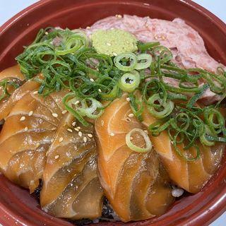 サーモンねぎとろ丼(居酒屋 ぎょっぷ )