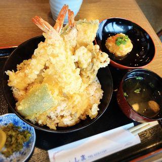 海老天丼定食(キッチンしま)
