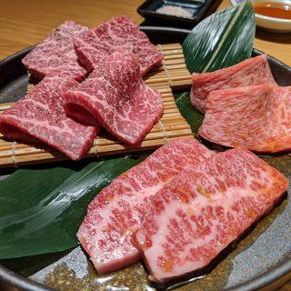 和牛四種盛り合わせ(まんぷく 二子玉川店)
