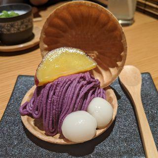 紫芋あんの白玉アイスモナカ