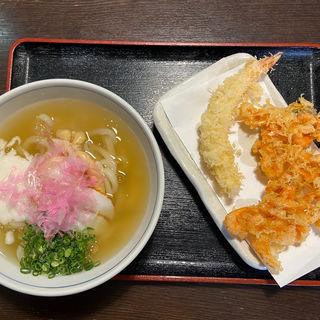えび天ぷらと姫あまえびととろーりあんかけうどん(さぬきうどん誠屋 )