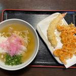 えび天ぷらと姫あまえびととろーりあんかけうどん
