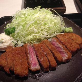 牛かつ麦めしセット(牛かつ もと村 浜松町店 )
