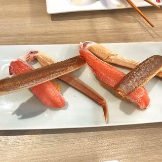 ズワイ蟹塩レモン(九州寿司 寿司虎 Aburi Sushi TORA)