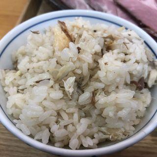炭焼き塩鯖の炊き込みご飯(自家製麺と定食 弦乃月)