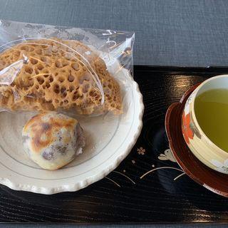 焼き金蝶園饅頭、ふわふわ